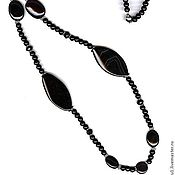 Украшения handmade. Livemaster - original item Beads from natural stones - agate black. Handmade.
