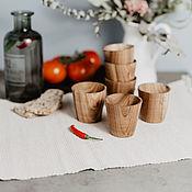 Посуда handmade. Livemaster - original item Set of Wooden wine glasses (6#17. Handmade.