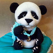 Куклы и игрушки ручной работы. Ярмарка Мастеров - ручная работа Игрушка малыш панда из шерсти.. Handmade.