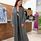 Одежда handmade. Livemaster - original item Grey knitted cardigan for women. Handmade.