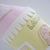 Для дома и интерьера ручной работы. Ярмарка Мастеров - ручная работа Именная подушечка-домик. Handmade.