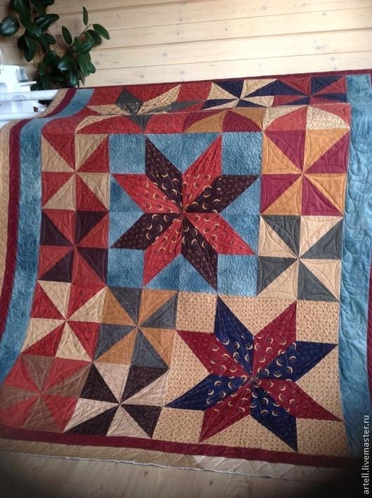 """Текстиль, ковры ручной работы. Ярмарка Мастеров - ручная работа. Купить Лоскутное одеяло"""" Звёзды"""". Handmade. Стеганое одеяло, звезды"""