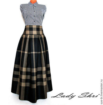 Длинная зимняя юбка для беременных - 3b5