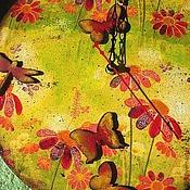 """Для дома и интерьера ручной работы. Ярмарка Мастеров - ручная работа Часы """"Счастливое лето!"""". Handmade."""