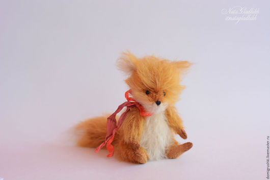 Мишки Тедди ручной работы. Ярмарка Мастеров - ручная работа. Купить Тедди Лисенок Лохматыш(повтор) миниатюра. Handmade. Рыжий, тедди