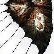 Аксессуары ручной работы. Ярмарка Мастеров - ручная работа Палантин треугольной формы , валяный Дикая амазонка. Handmade.