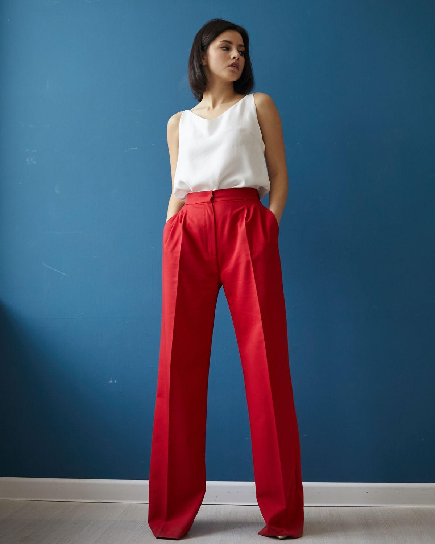 Костюм брюки и удлиненный жилет фото