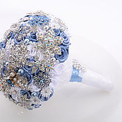 Свадебный салон ручной работы. Ярмарка Мастеров - ручная работа Букет невесты. Свадебный брошь букет ,, Агнес``. Handmade.