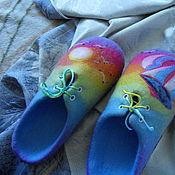 """Обувь ручной работы. Ярмарка Мастеров - ручная работа Тапочки войлочные """" На встречу солнцу"""". Handmade."""