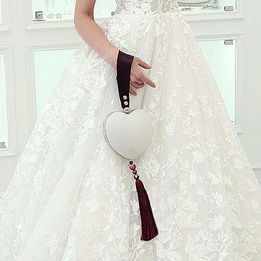 """Сумки и аксессуары ручной работы. Ярмарка Мастеров - ручная работа Свадебная сумка сердце Wedding Princess """"Snow White"""". Handmade."""