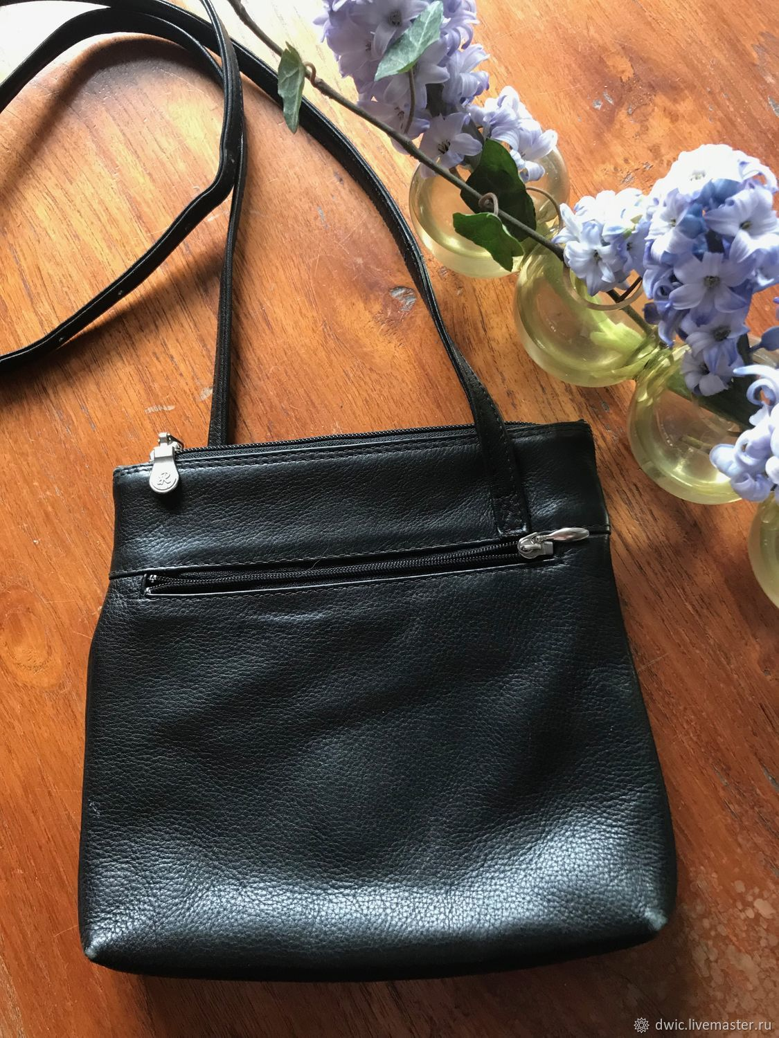 409e6ab7d Vintage leather handbag Italy – shop online on Livemaster with ...