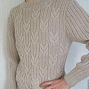 Одежда ручной работы. Ярмарка Мастеров - ручная работа Мужской пуловер, связанный спицами. Handmade.