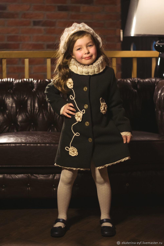 """Одежда для девочек, ручной работы. Ярмарка Мастеров - ручная работа. Купить Пальто """"Старая Англия"""". Handmade. Для девочки, полиэстер"""