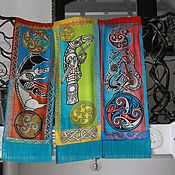 """Картины и панно ручной работы. Ярмарка Мастеров - ручная работа Комплект панно для декорирования интерьера """"Кельтские символы"""".. Handmade."""