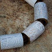 Украшения ручной работы. Ярмарка Мастеров - ручная работа Колье из полимерной глины этно нежнейшее. Handmade.
