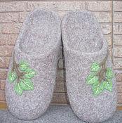 """Обувь ручной работы. Ярмарка Мастеров - ручная работа Войлочные тапочки """"Березка"""". Handmade."""