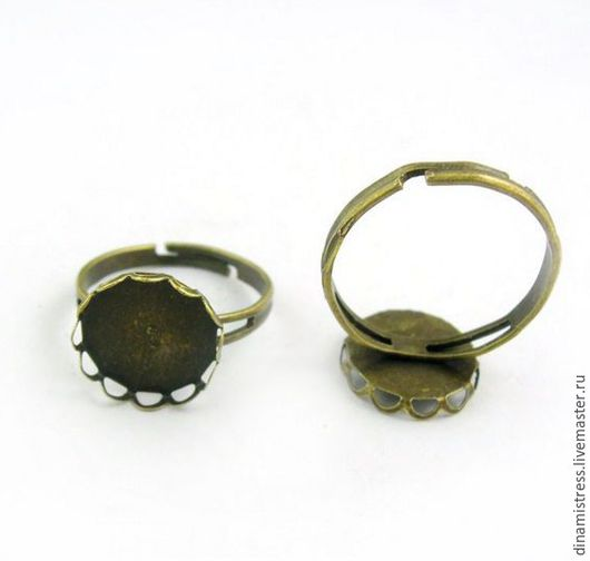 Для украшений ручной работы. Ярмарка Мастеров - ручная работа. Купить Кольцо-основа 12 мм.Цвет античная бронза. Handmade.