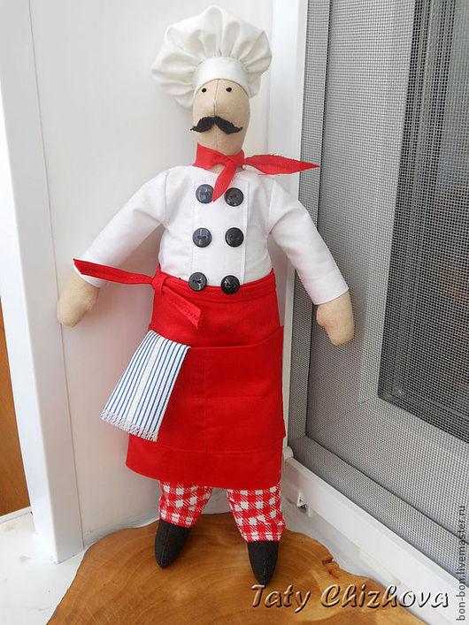 Куклы Тильды ручной работы. Ярмарка Мастеров - ручная работа. Купить Повар-итальянец. Handmade. Интерьерная кукла, повар