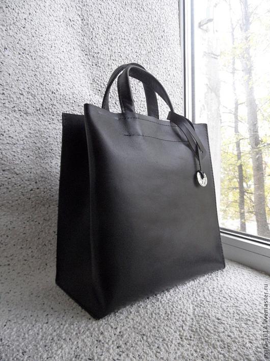 Женские сумки ручной работы. Ярмарка Мастеров - ручная работа. Купить СИТИ классическая. Handmade. Черный, сумка ручной работы
