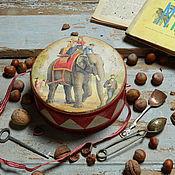 """Для дома и интерьера ручной работы. Ярмарка Мастеров - ручная работа Коробочка """"Мой любимый барабан"""". Handmade."""