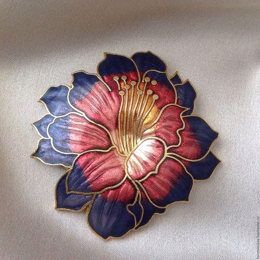 Винтажные украшения. Ярмарка Мастеров - ручная работа. Купить Брошь сиреневый цветок, винтаж. Handmade. Брошь, брошь цветок, металл
