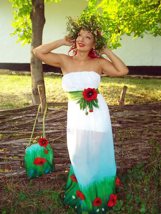 """Платья ручной работы. Ярмарка Мастеров - ручная работа. Купить Платье """"Лето красное"""". Handmade. Платье, шифон"""
