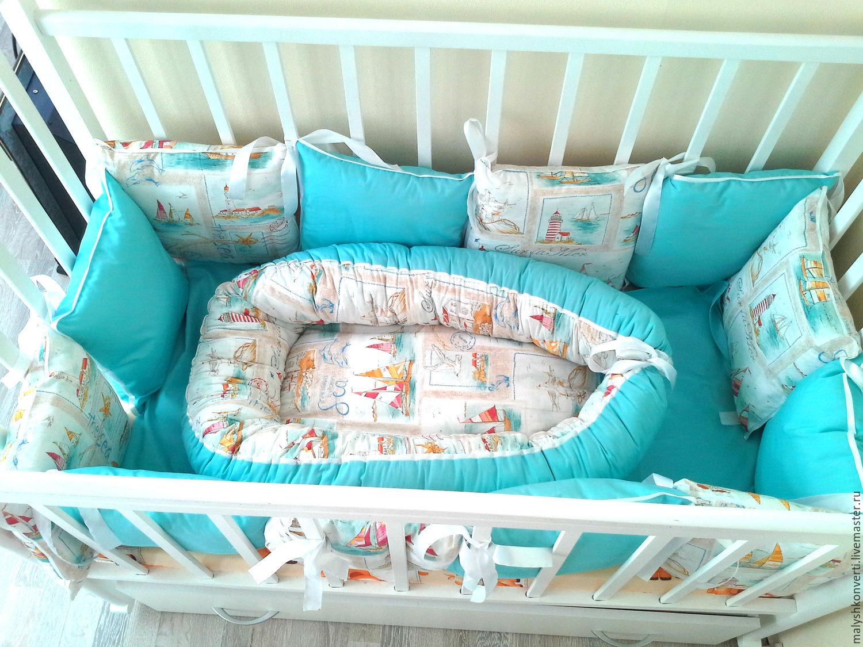 Как сшить бортики подушки в кроватку для новорожденного 67