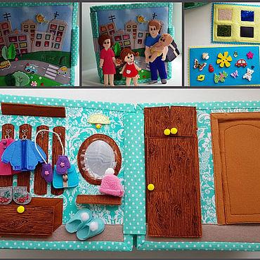 Куклы и игрушки ручной работы. Ярмарка Мастеров - ручная работа Развивающая книга Кукольный домик. Handmade.