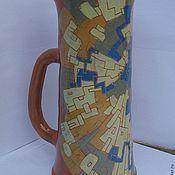 """Посуда ручной работы. Ярмарка Мастеров - ручная работа Кружка-ваза""""Для цветов и пива"""". Handmade."""