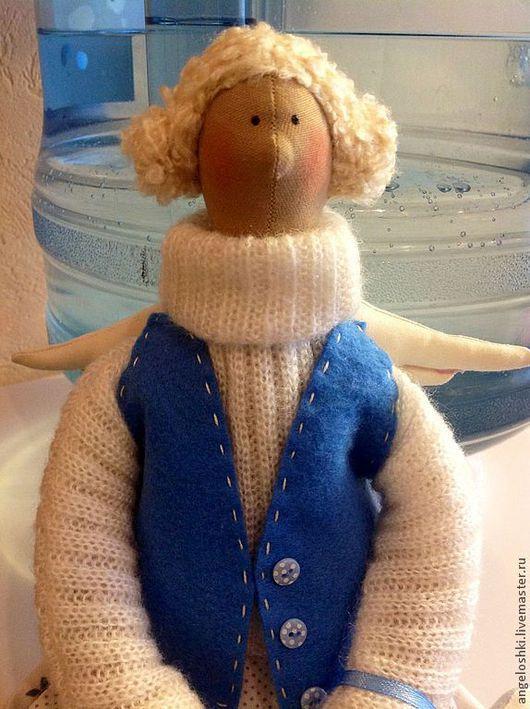Куклы Тильды ручной работы. Ярмарка Мастеров - ручная работа. Купить Ангел хранитель домашнего уюта. Handmade. Голубой, шерсть