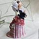Колокольчик Дамочка под зонтиком. Колокольчики. Ярослава Зуйкина. Керамика. Интернет-магазин Ярмарка Мастеров. Фото №2