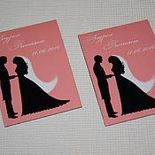 Сувениры и подарки ручной работы. Ярмарка Мастеров - ручная работа Black Silhouettes... Свадебные магниты для гостей. Handmade.