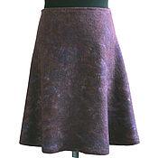 Одежда handmade. Livemaster - original item Felted skirt milky way. Handmade.