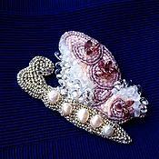 Украшения handmade. Livemaster - original item Brooch butterfly with pearls. Handmade.