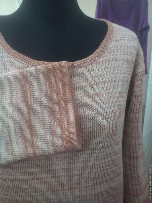 Платья ручной работы. Ярмарка Мастеров - ручная работа. Купить Платье вязаное. Handmade. Бежевый, вязание на заказ, меланж