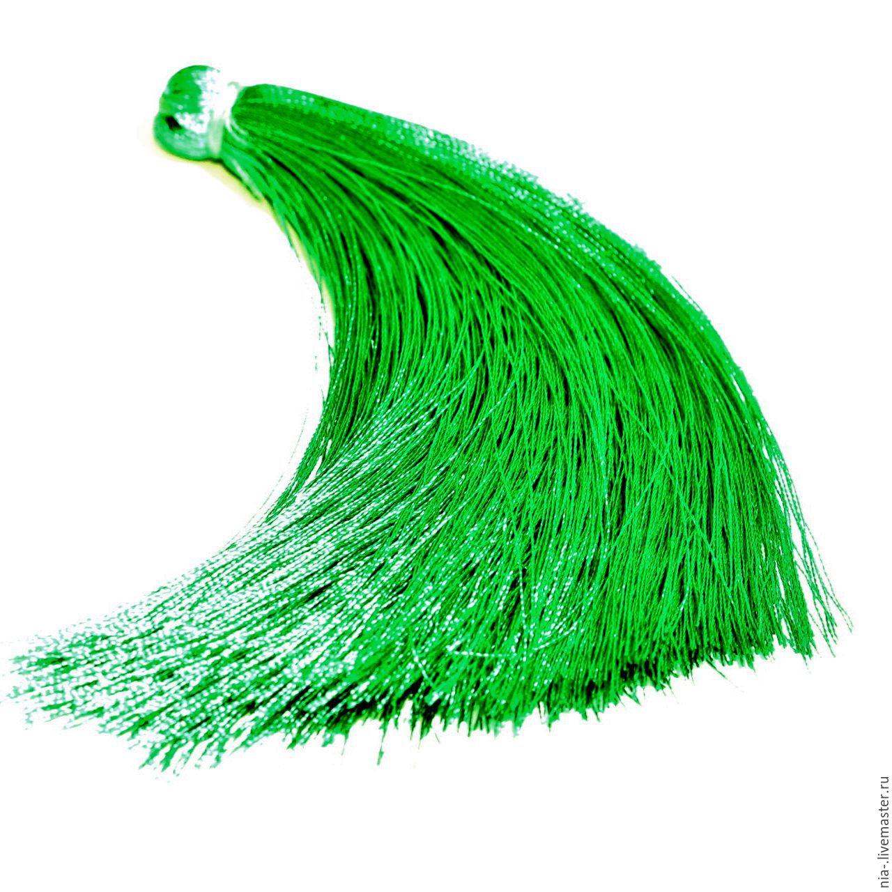 Кисти для украшений зелёные 12 см k225, Шнуры, Москва, Фото №1
