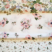 Материалы для творчества handmade. Livemaster - original item Fabrics Moscow Satin China Cotton flowers Provence. Handmade.