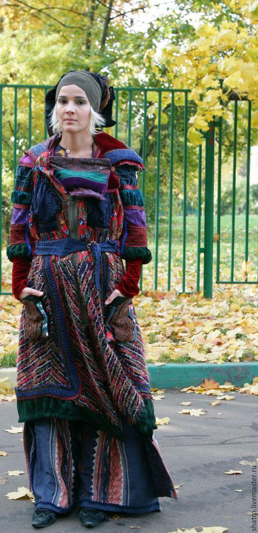 Верхняя одежда ручной работы. Ярмарка Мастеров - ручная работа. Купить женское пальто МАГИЯ ЦВЕТА. Handmade. Комбинированный