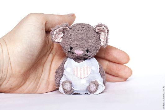 Мишки Тедди ручной работы. Ярмарка Мастеров - ручная работа. Купить Мышь Малыш. Handmade. Серый, тедди, гранулят металлический