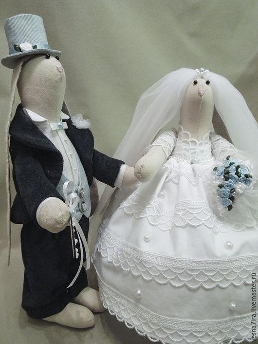 """Куклы и игрушки ручной работы. Ярмарка Мастеров - ручная работа. Купить Набор для шитья кукол """"Свадебные зайцы"""". Handmade. Зайцы"""
