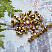 Материалы для творчества handmade. Livemaster - original item Beacons Gold 4h4 mm. Handmade.