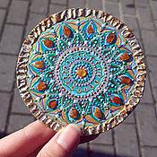 Сувениры и подарки handmade. Livemaster - original item Magnets: Amber Mandala of Happiness. Handmade.