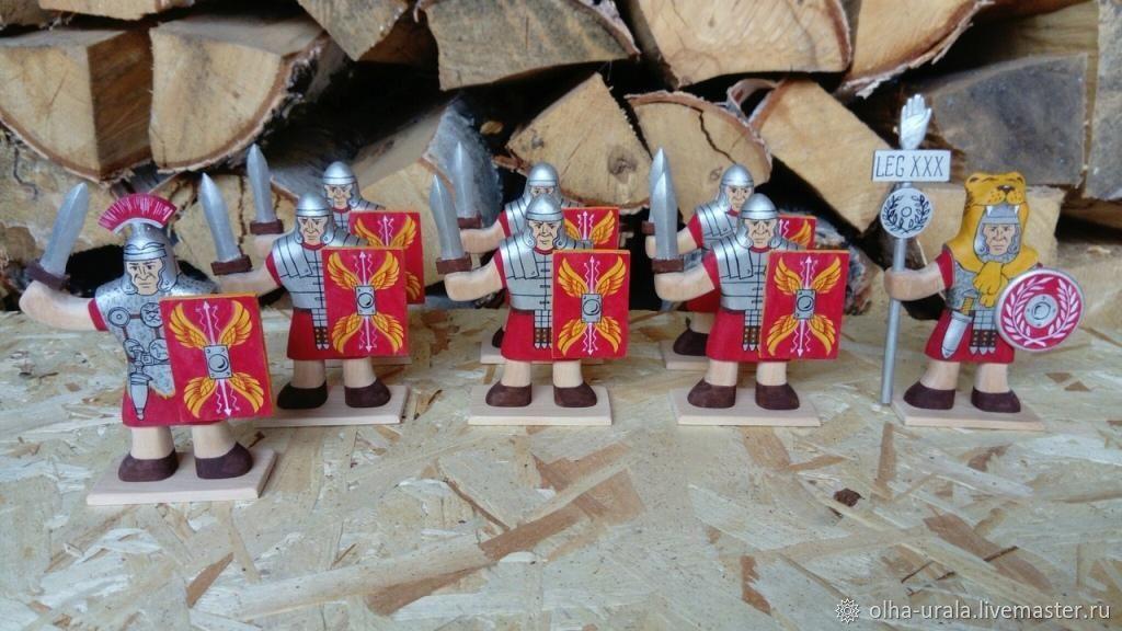 """Деревянные солдатики """"Римляне"""", Военная миниатюра, Уйское,  Фото №1"""