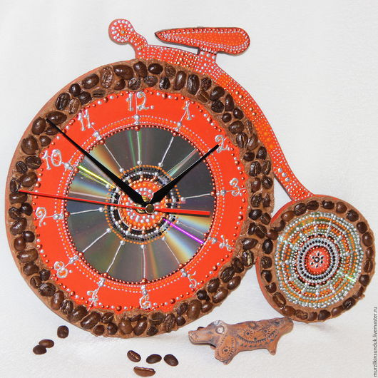 Часы настенные Кофейный велосипед
