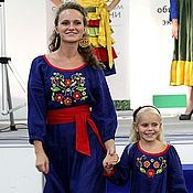 Одежда handmade. Livemaster - original item Dress for mom and daughter wild BERRY. Handmade.