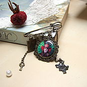 Украшения handmade. Livemaster - original item Brooch Pin Mad Hatter Alice in Wonderland Tea party Tale. Handmade.