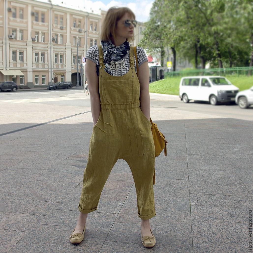 Комбинезон горчичный, Комбинезоны, Москва,  Фото №1