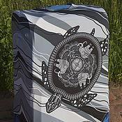 """Сумки и аксессуары handmade. Livemaster - original item Luggage cover """"Turtle monochrome"""". Handmade."""