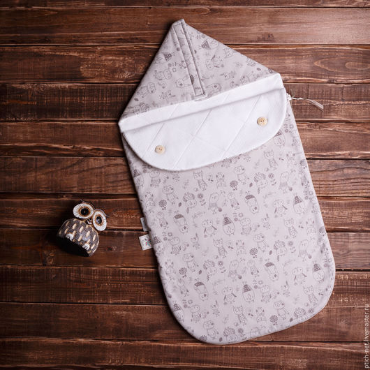"""Для новорожденных, ручной работы. Ярмарка Мастеров - ручная работа. Купить Конверт детский на выписку """"Brown owl"""". Handmade. рисунок"""
