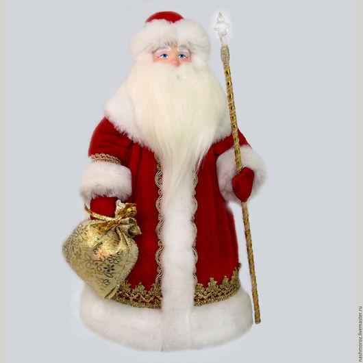 Коллекционные куклы ручной работы. Ярмарка Мастеров - ручная работа. Купить 4. Дед мороз под елку, фарфор, флисовый, 40см. Handmade.